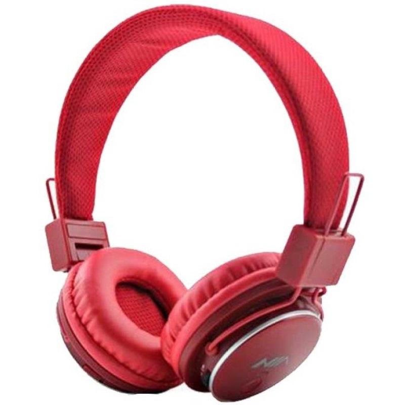 60622_Наушники AF-801 беспроводные RADIO + MP3 PLAYER красные (шт )